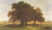 Théodore Rousseau -  Chênes à Apremont (1852) - Musée d'Orsay.